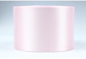 Атласная лента 5 см, однотонная, кремово-розовая, 90