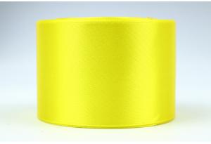Атласная лента 5 см, однотонная, желтая