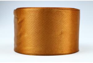 Атласная лента 5 см, однотонная, коричневая, 158