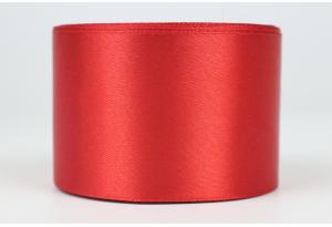 Атласная лента 5 см, однотонная, красная, 26