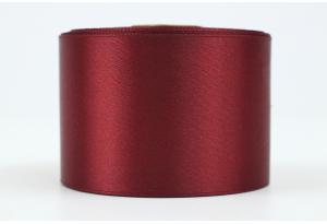Атласная лента 5 см, однотонная, марсала