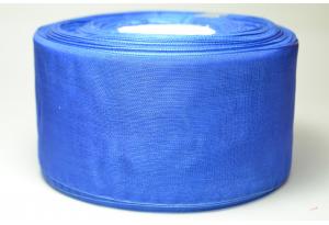 Лента из органзы 5 см, синяя
