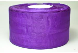 Лента из органзы 5 см, фиолетовая