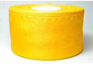 Лента из органзы 5 см, темно-желтая