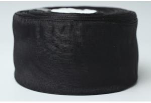 Лента из органзы 5 см, черная