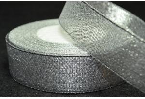 Лента парчовая 2.5 см, серебро