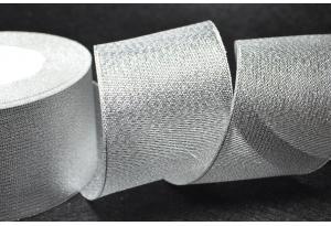 Лента парчовая 5 см, серебро
