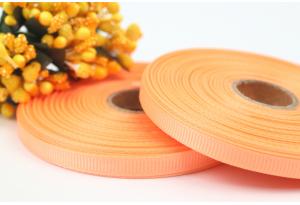 Репсовая лента 0.6 см, абрикосовая