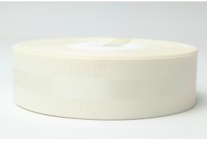 Репсовая лента 2.5 см, с атласной полосой, айвори, 08
