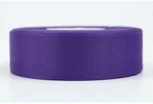 Репсовая лента 2.5 см, однотонная, фиолетовая, 35