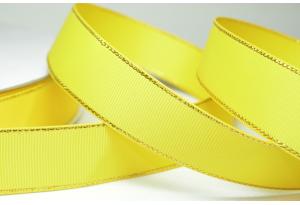 Репсовая лента с люрексом (золото) 2.5 см, темно-желтая
