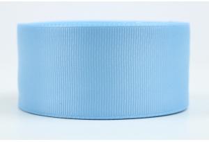 Репсовая лента 4 см, голубая, 97