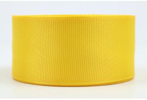 Репсовая лента 4 см, темно-желтая