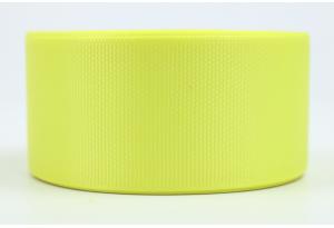 Репсовая лента 4 см, желтая, 15