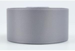 Репсовая лента 4 см, серая