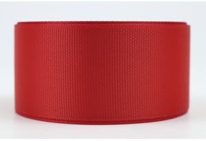 Репсовая лента 4 см, красная, 26