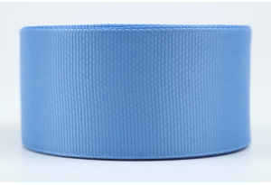 Репсовая лента 4 см, светло-синяя