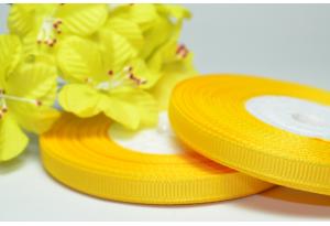 Репсовая лента 0.6 см, темно-желтая