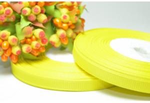 Репсовая лента 0.6 см, желтая