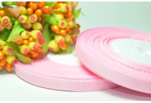 Репсовая лента 0.6 см, светло-розовая