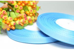 Репсовая лента 0.6 см, голубая