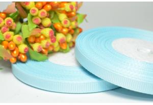 Репсовая лента 0.6 см, светло-голубая
