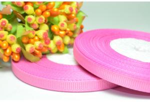 Репсовая лента 0.6 см, темно-розовая