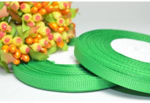 Репсовая лента 0.6 см, зеленая