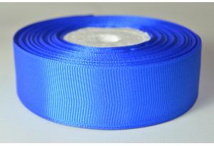 Репсовая лента 2.5 см, однотонная, синяя