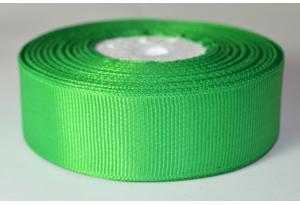 Репсовая лента 2.5 см, однотонная, зеленая, 19