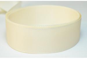 Репсовая лента 2.5 см, однотонная, кремовая
