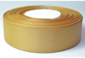 Репсовая лента 2.5 см, однотонная, карамельная