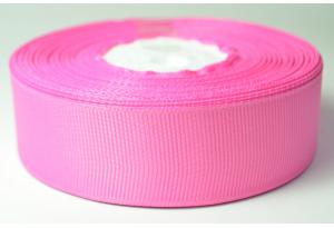 Репсовая лента 2.5 см, темно-розовая