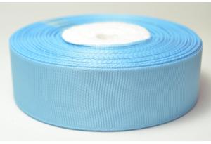 Репсовая лента 2.5 см, однотонная, голубая, 97