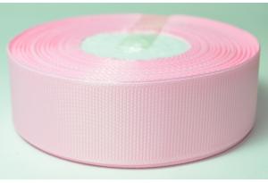 Репсовая лента 2.5 см, светло-розовая