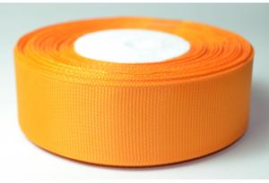 Репсовая лента 2.5 см, однотонная, оранжевая