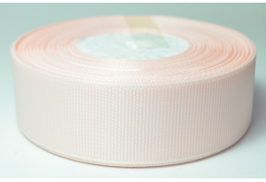 Репсовая лента 2.5 см, однотонная, персиковая