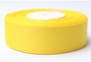Репсовая лента 2.5 см, однотонная, темно-желтая, 16