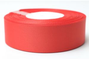 Репсовая лента 2.5 см, однотонная, красная