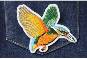 Нашивка на одежду, аппликация, Птица, 9х7 см, №2