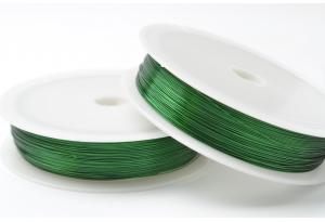 Проволока 0,3 мм, рулон 46 м, зеленая