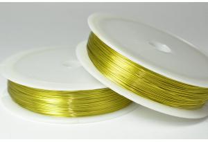 Проволока 0,3 мм, рулон 46 м, желтая