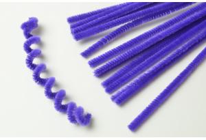 Синельная проволока пушистая, 30 см, фиолетовая