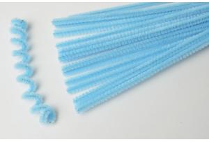 Синельная проволока пушистая, 30 см, голубая
