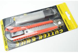 Нож канцелярский, с дополнительными лезвиями 18x100 мм