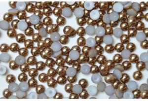 Полубусина 6 мм, коричневая