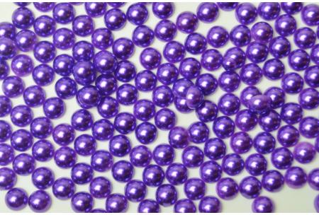 Полубусина 6 мм, фиолетовая