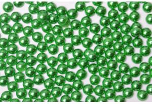 Полубусина 6 мм, зеленая