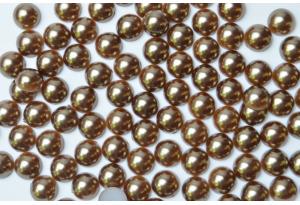 Полубусина 8 мм, коричневая