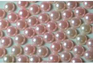 Полубусина 10 мм, розовая